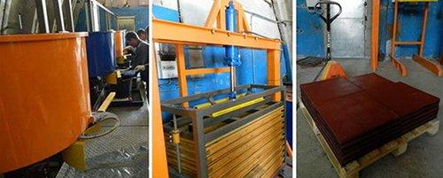 Технология производства резиновой брусчатки или плитки